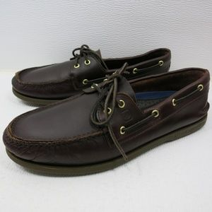 Sperry Leather Deck Shoes Top-Sider Boat Shoe 11 M